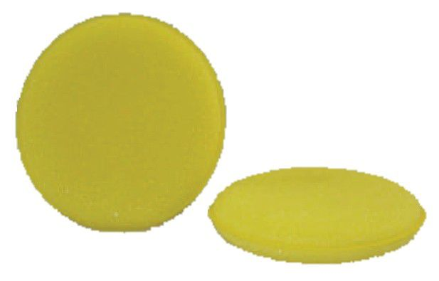 Round Yellow Foam Wax Applicator (4