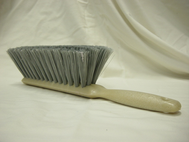 Grey Counter Duster Brush